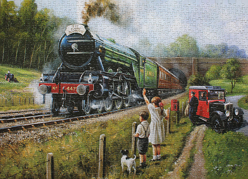 Steam Engine Oil Painting