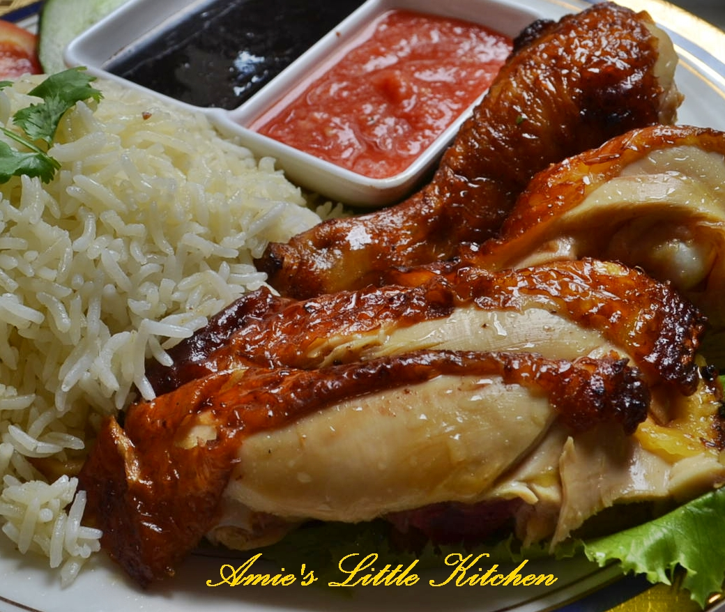 nasi ayam Nasi ayam mb the famous chicken rice cooked in cloves garlic, crushed ginger  and sesame oil comes with slices of boneless breast of chicken seasoned to.