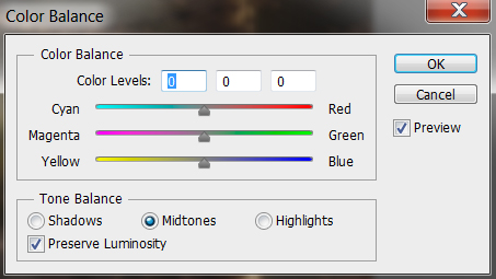 color balance ayarları