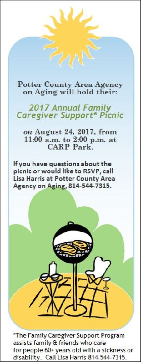 8-24 PCAA Family Caregiver Support Picnic