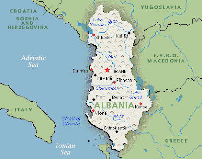 Map of Albania Region Country