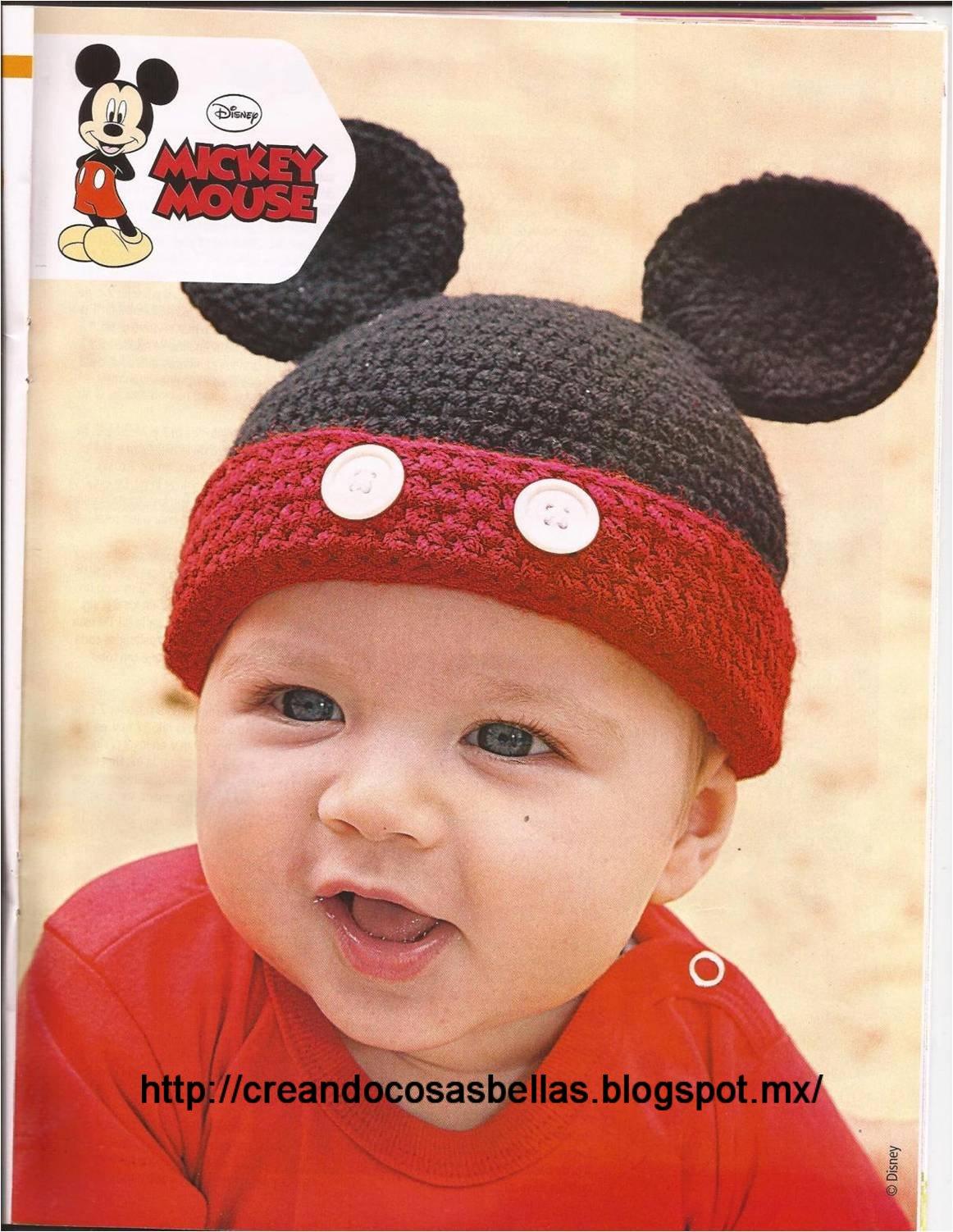 Creando cosas bellas: Gorro en crochet Mickey Mouse