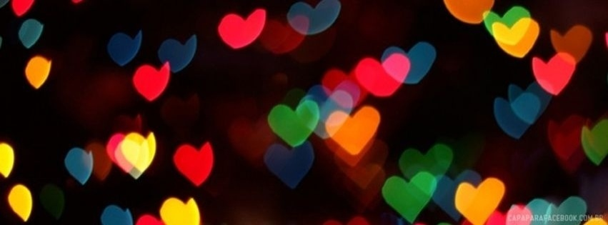 Capas Para Facebook: Capa de Corações de Amor!