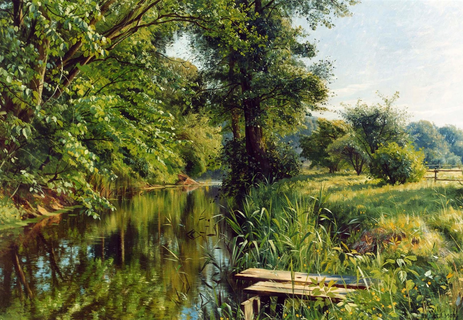 Петер Мёрк Мёнстед  «Размышления весны», (1859-1941) Дания