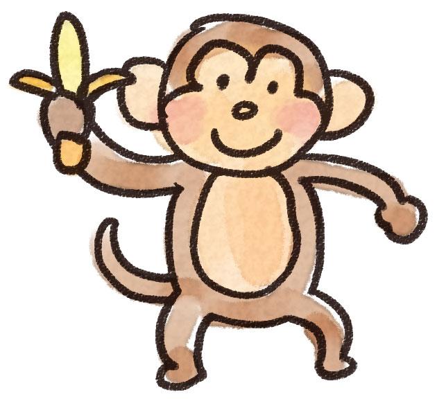 猿のイラスト 動物 ゆるかわいい無料イラスト素材集