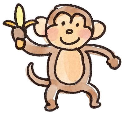 猿のイラスト(動物)