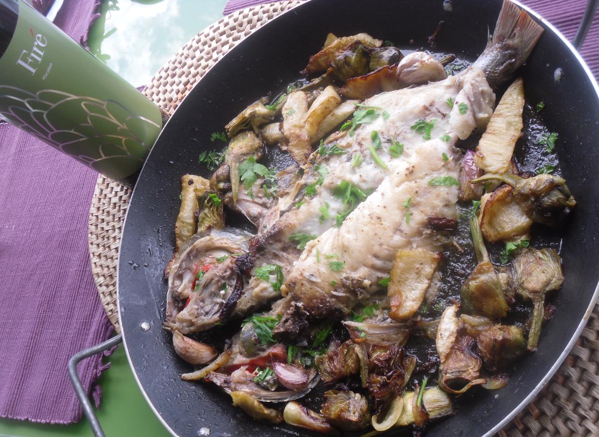 La cocina plural besugo con verduras apio nabo bulbo de for Cocinar hinojo
