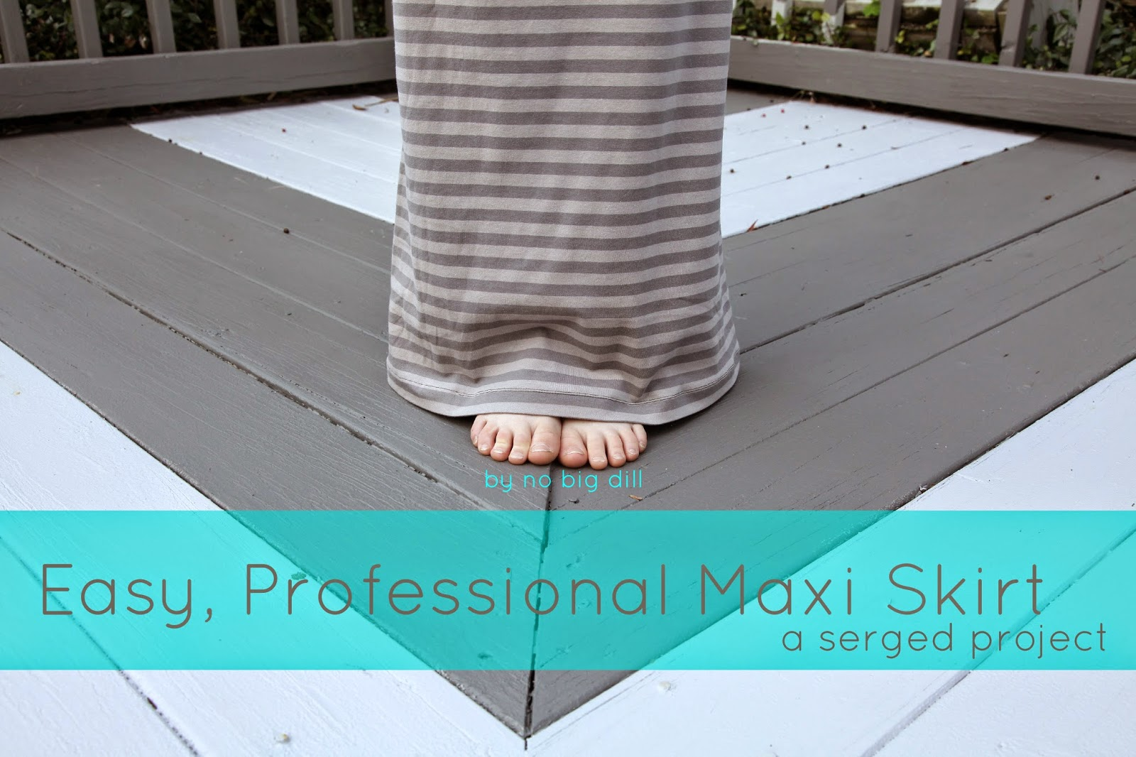 no big dill: Easy, Professional Looking Maxi Skirt-DIY