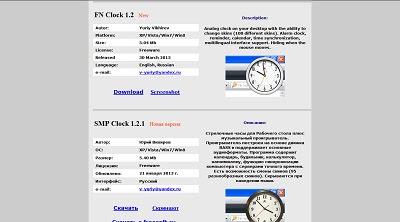 FN Clock, Desktop Widget