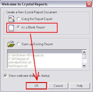 Cara Membuat Program Laporan Dengan Crystal Report 8.5 Dan Visual Basic 6.0