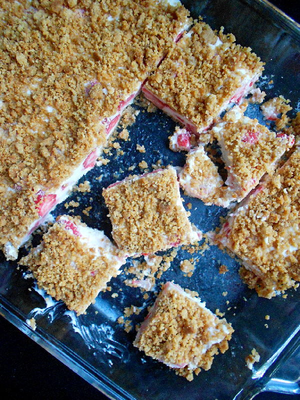 Confessions of a Confectionista: Frozen Strawberries and Cream Bars