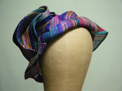 Hat made from abaca fabric from Heads of State Millinery