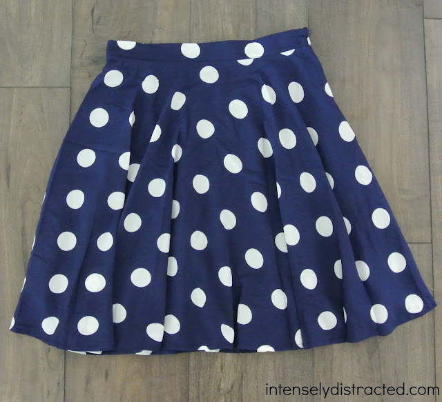 Stitch Fix: Pixley Hanneli Polka Dot Swing Skirt