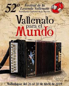 AFICHE OFICIAL DEL FESTIVAL VALLENATO 2019