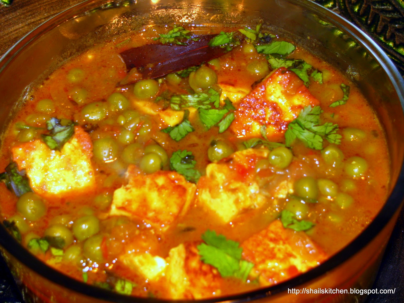 Matar paneer is a beautiful combination of peas and cottage cheese ...