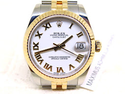 ROLEX OYSTER PERPETUAL DATE JUST WHITE ROMAN DIAL BOY SIZE 31mm - ROLEX 178273 - RANDOM 2015 - MINT