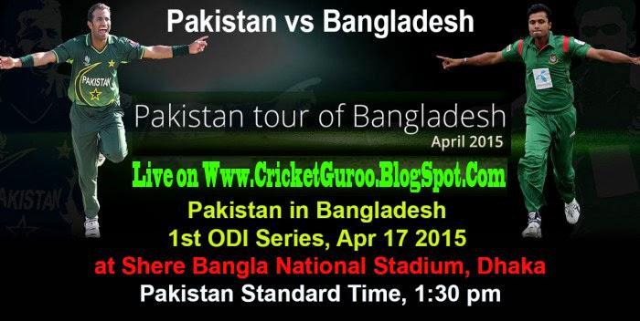 Pak vs Ban, Live Streaming 1st ODI