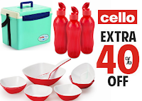 Get Upto 28% & Extra 40% off On Cello Branded Products :Buytoearn