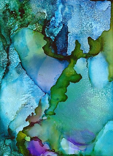 daily painters abstract gallery contemporary alcohol ink