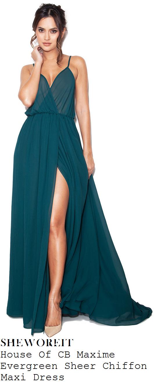 vicky-pattison-jewel-green-sleeveless-sheer-chiffon-front-split-maxi-dress
