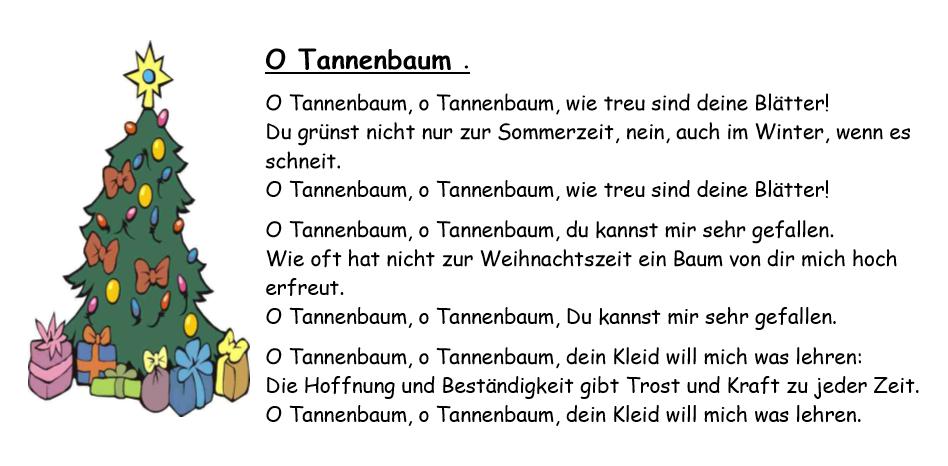 Claret sevilla deutsche sprache weihnachtslieder - Tannenbaum englisch ...