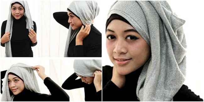 Tutorial Gaya Hijab Kantong