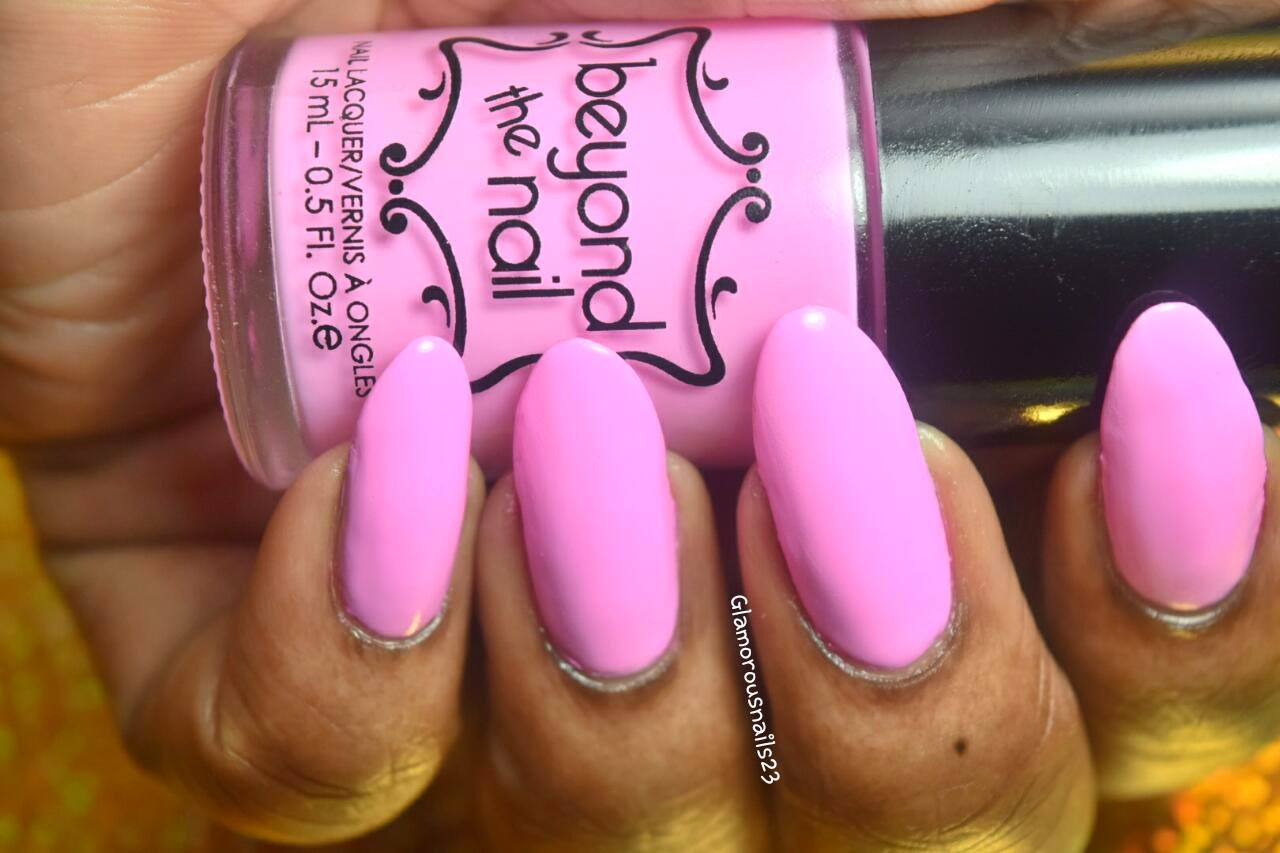 Beyond The Nail Spring Pink Swatch