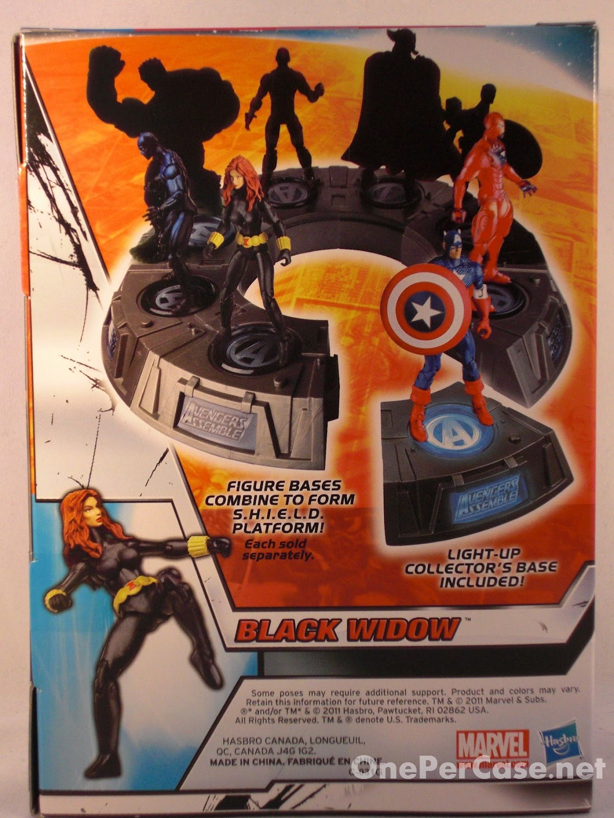Avengers Wall Lights Toys R Us : One Per Case: Marvel Universe Avengers Light-Up Base Wave 2 - Black Widow (Plus a Variation)