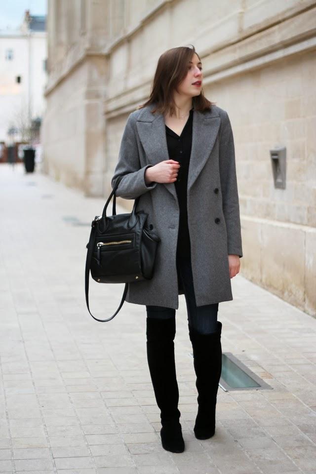 cuissardes noires bottes hautes daim