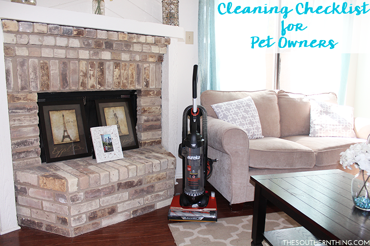 Cleaning checklist for pet owners