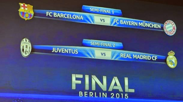 Barcelona-Bayern y Juventus-Real Madrid en semifinales de la Champions