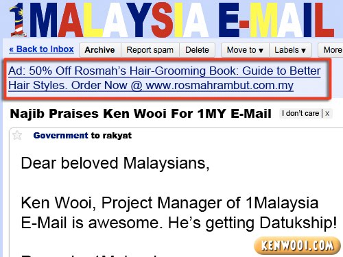 1malaysia email advert