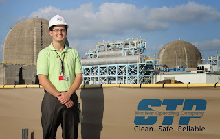 Steven Flueriet did an internship with STP Nuclear Operating Company.