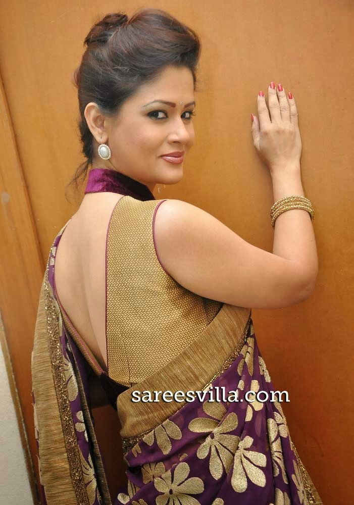 Shilpa Chakravarthy In Backless Blouse