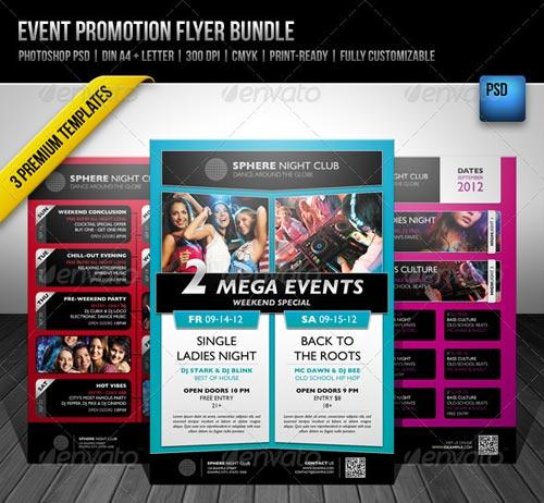 Event Promotion Flyer Bundle - PSD