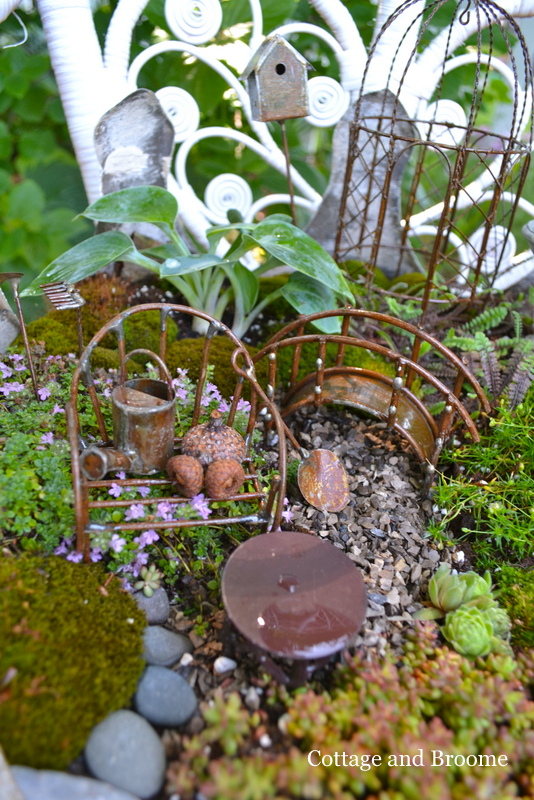 Cottage And Broome Fairy Garden