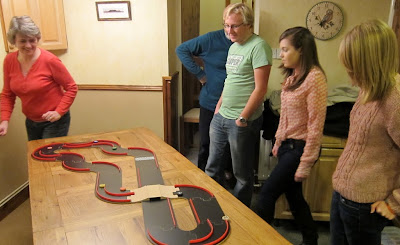 Pitch Car with Extension - The Players racing around the track