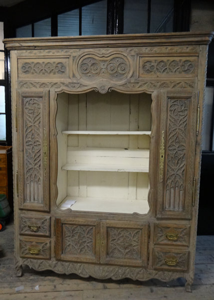 Antique Carved French Armoire