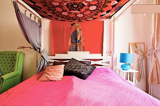 Ideas For Bedrooms Pink And Green Bedroom