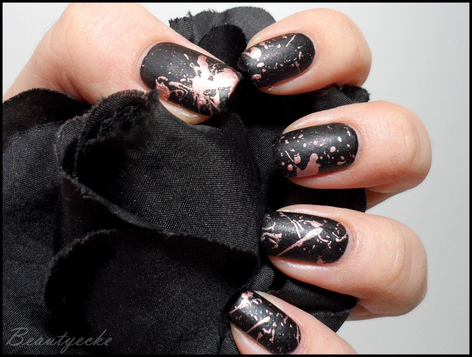 Beautyecke: splatter nails - Rumklecksen gewollt!