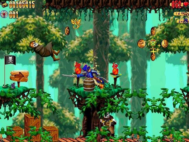imagens do jogo Captain Claw