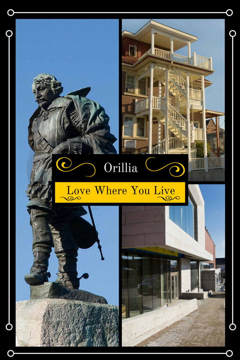 A combined serious of photos from Orillia with the text love where you live.