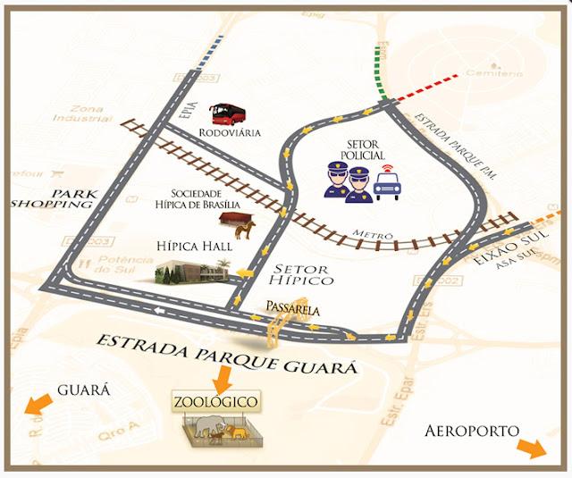 mapa desfile
