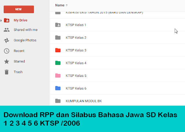 Download RPP dan Silabus Bahasa Jawa SD Kelas 1 2 3 4 5 6 KTSP /2006
