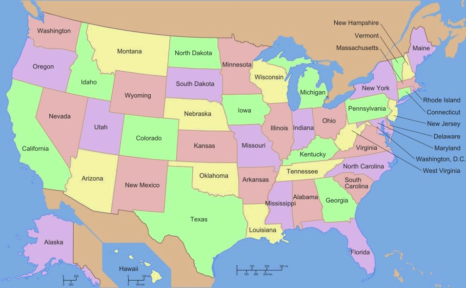 Usa Map With All States. Map. Usa Map Images