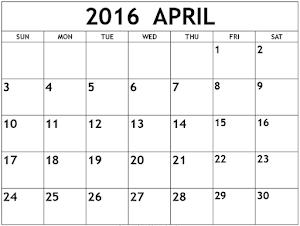APRIL 2016