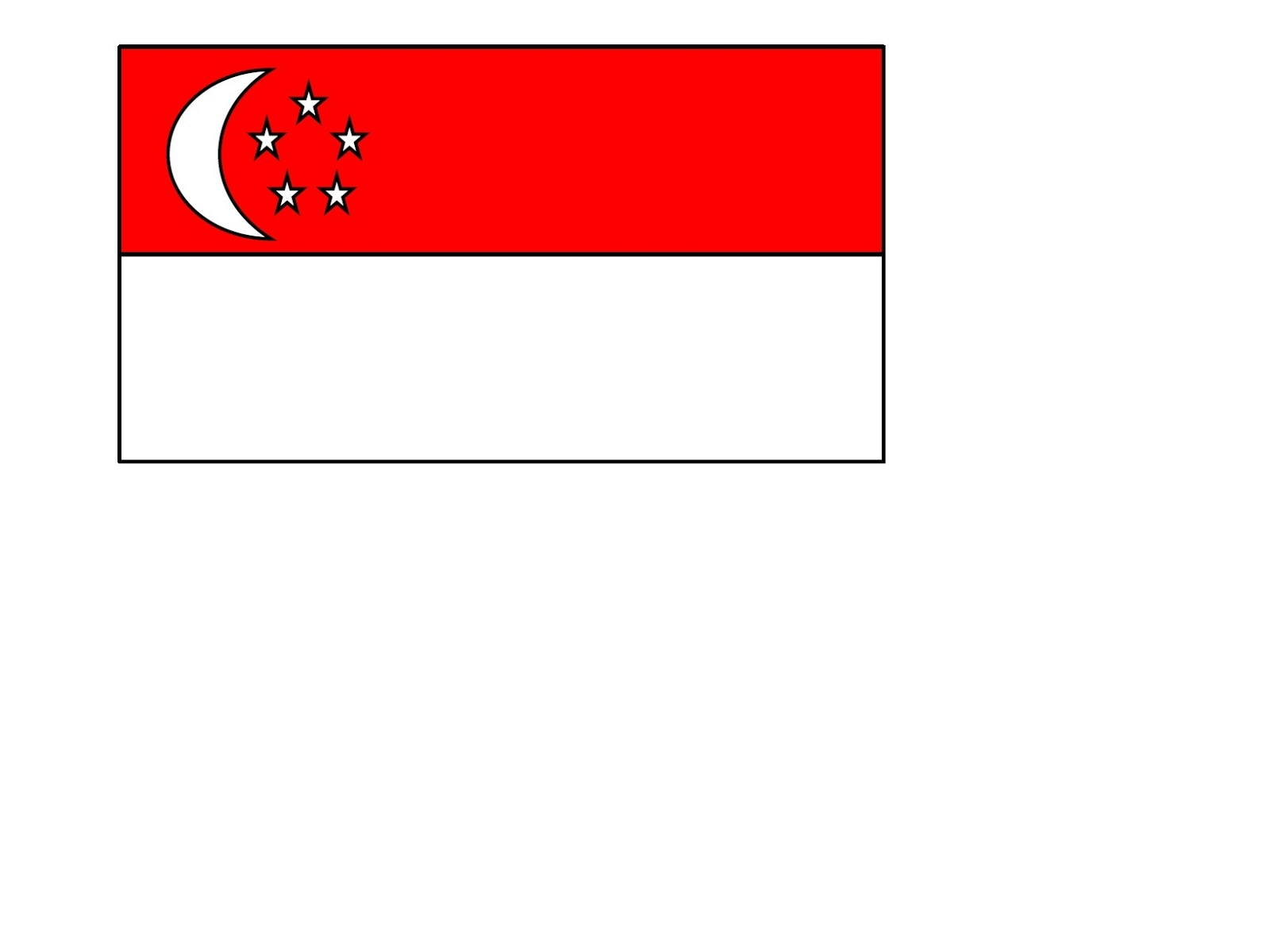 Banner Singapore National Day Flag Craft
