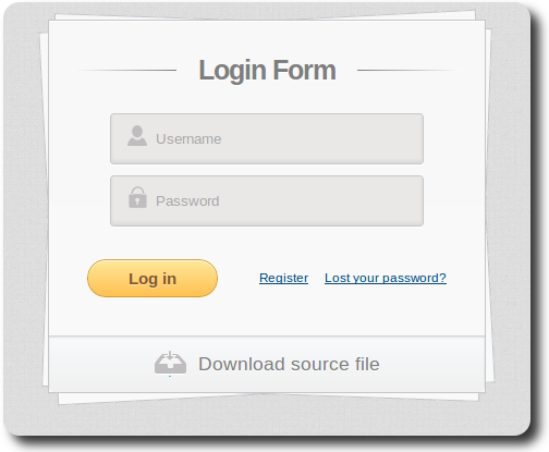 Login form using HTML5 and CSS3 Foulscode