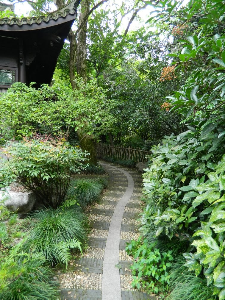 Path Flower Harbor Park West Lake Hangzhou by garden muses-a Toronto gardening blog