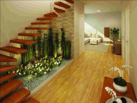 Construindo minha casa clean jardins de inverno ou - Decoracion para debajo de las escaleras ...